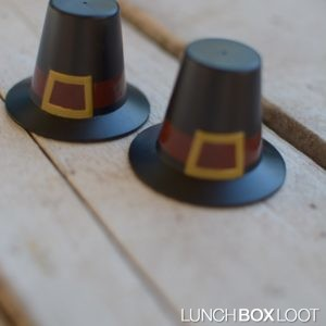 3D Pilgrim Hat Bento/Cupcake Topper from lunchboxloot.com