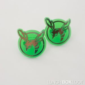 Green Hornet Cupcake/Bento ring from lunchboxloot.com