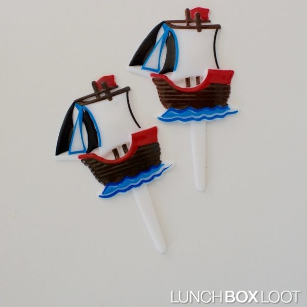 Pirate Ship Bento/Cupcake Picks from lunchboxloot.com
