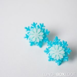 Snowflake Cupcake/Bento Ring Dark Blue from lunchboxloot.com