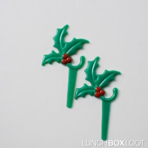 Mistletoe Cupcake/Bento Pick from lunchboxloot.com