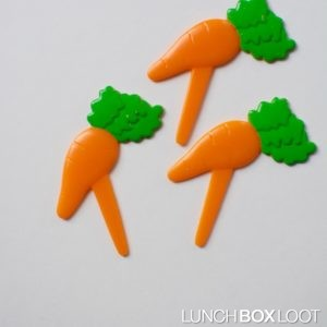 Carrot cupcake/bento pick from lunchboxloot.com