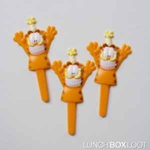 Garfield Cupcake/Bento Picks from lunchboxloot.com