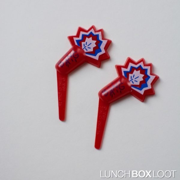 Firecracker Cupcake/Bento Pick from lunchboxloot.com