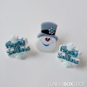 Frosty the Snowman cupcake/bento rings from lunchboxloot.com