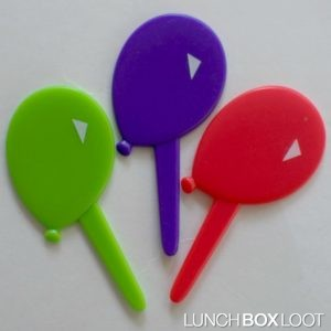 Balloons cupcake pick from lunchboxloot.com