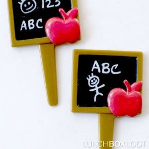 Chalkboard ABC Cupcake Picks from lunchboxloot.com