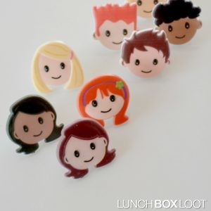 People Faces Cupcake Rings from lunchboxloot.com